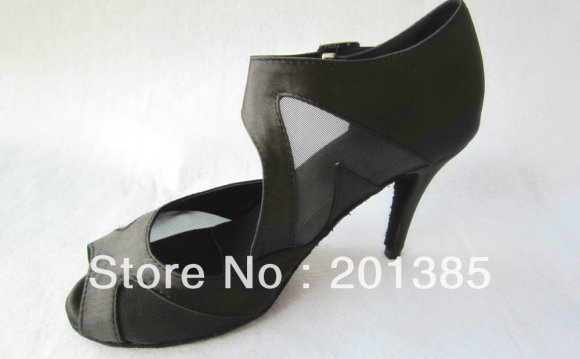 Ladies Black Satin Mesh