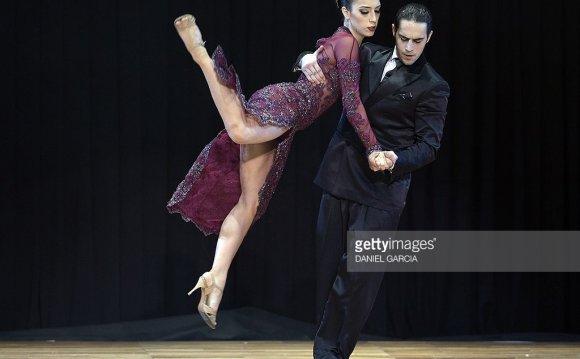 Argentine tango dancers Juan