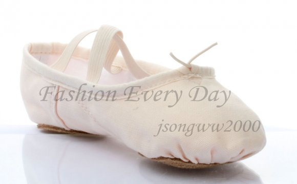 Adult Pink Canvas split-sole
