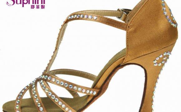 Orange Latin Dance Shoes